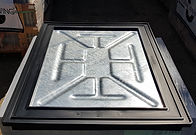 recessed manhold cover for paving slabs