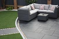 carbon black limestone paving slab