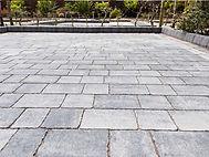 Silver grey block paving