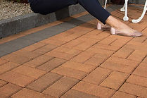 brindle damson single size block paving