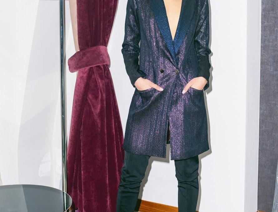 shiny dress-jacket