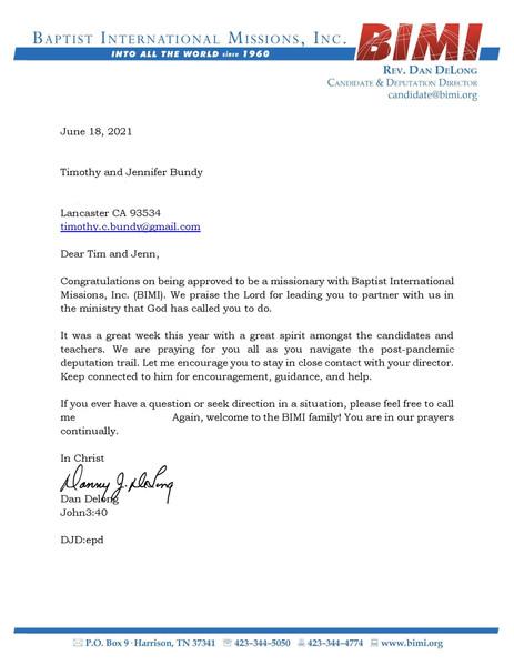 BIMI Acceptance Letter