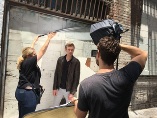 Behind the scenes getting headshots done.