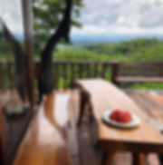 Doi Isara resort balcony table