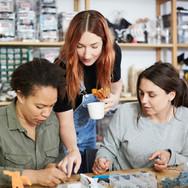 3 Women in Jewelry Workshop