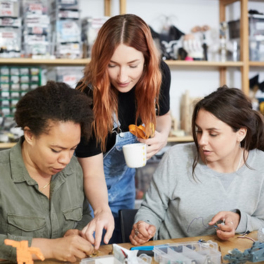 3 Women in Jewelry Workshop