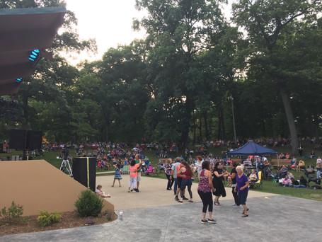 Arts in the Park dance floor