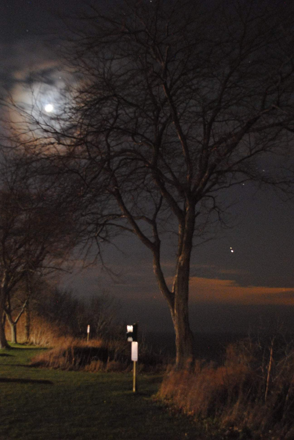 Jupiter and Saturn and Moon St Joseph MI