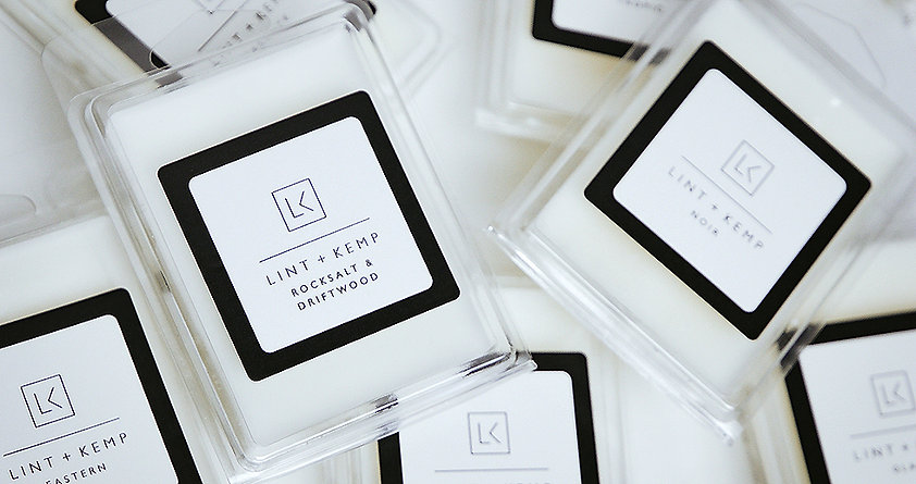 Beautifully crafted wax melts from Lint and Kemp