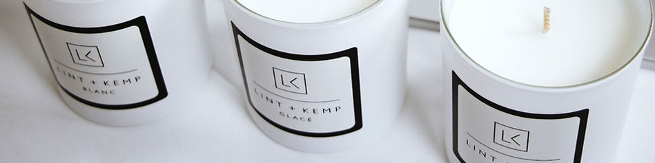 Beautifully crafted candles from Lint and Kemp