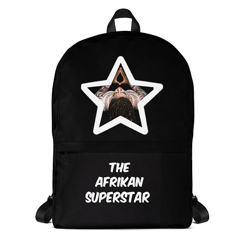 Afrikan Superstar star logo Backpack