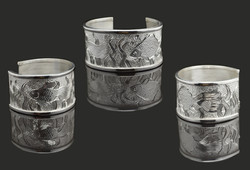 Hand Engraved Silver Bangle