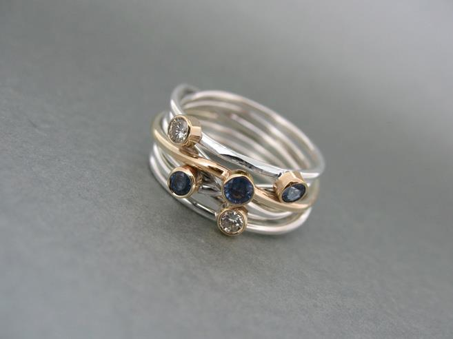 Wire Wrap Stone Set Ring