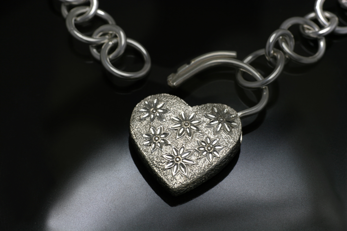 Engraved Heart Pendant in Silver