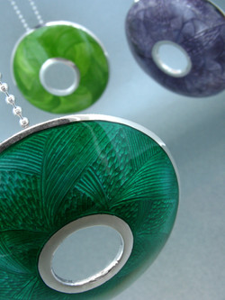 Silver Enamel Necklaces