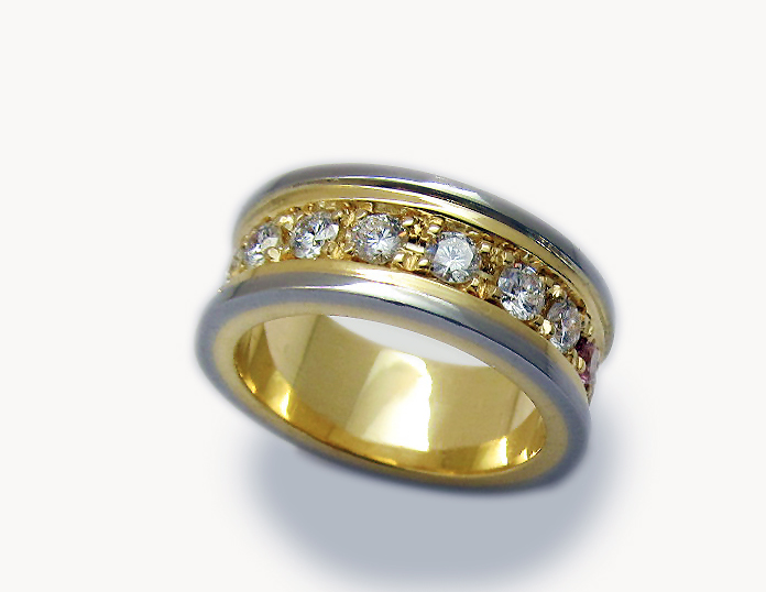 Brilliant Cut Two Tone Ring