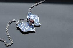 Rhodolite Garnet Butterfly Pendant