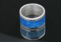 Blue Enamel Ring