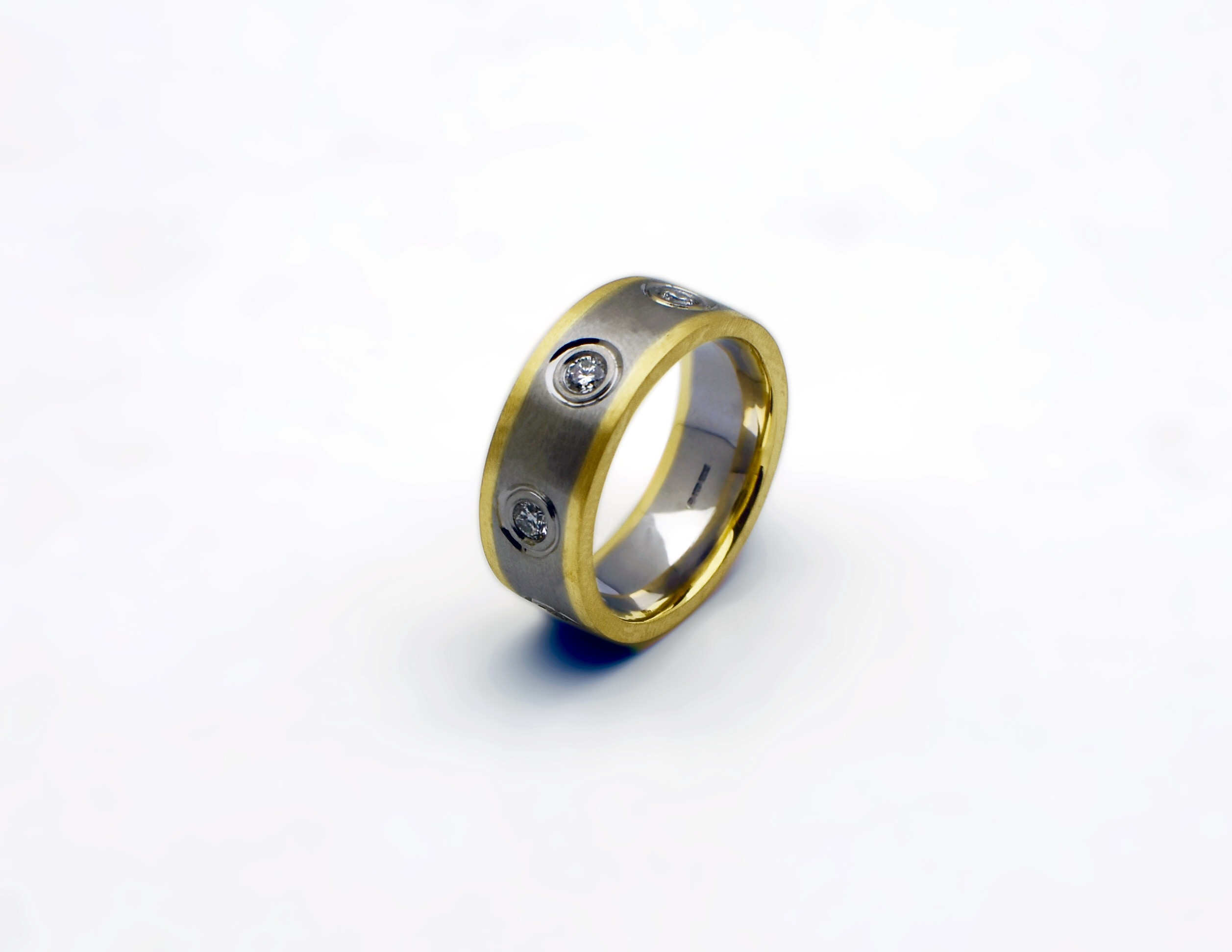 Two Tone Diamond Set Ring