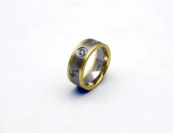 Two Tone Diamond Set Ring