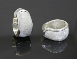 Silver Engraved Earrings