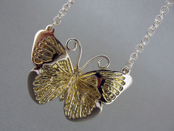 Hand Engraved Butterfly Pendant