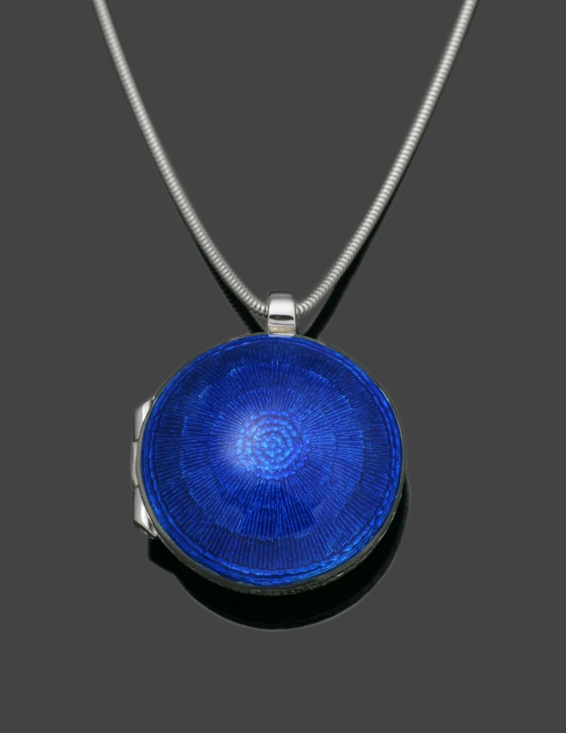 Blue Enamel locket