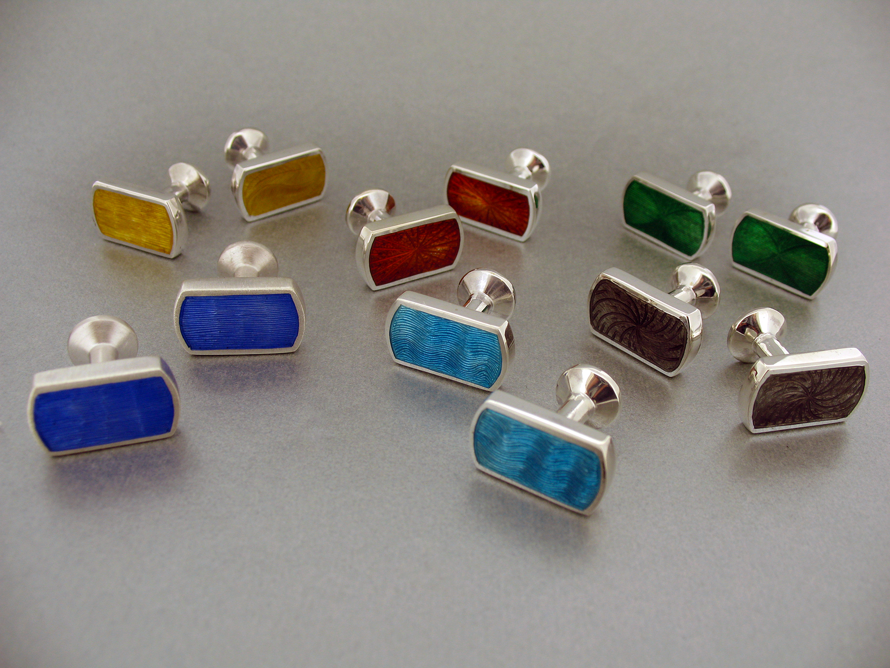 Enameled Men's Cufflinks