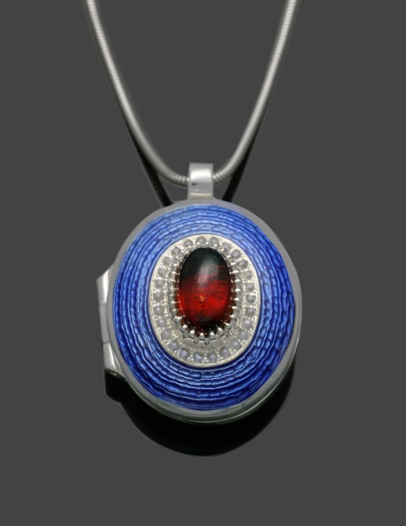 Garnet and Enamel Locket