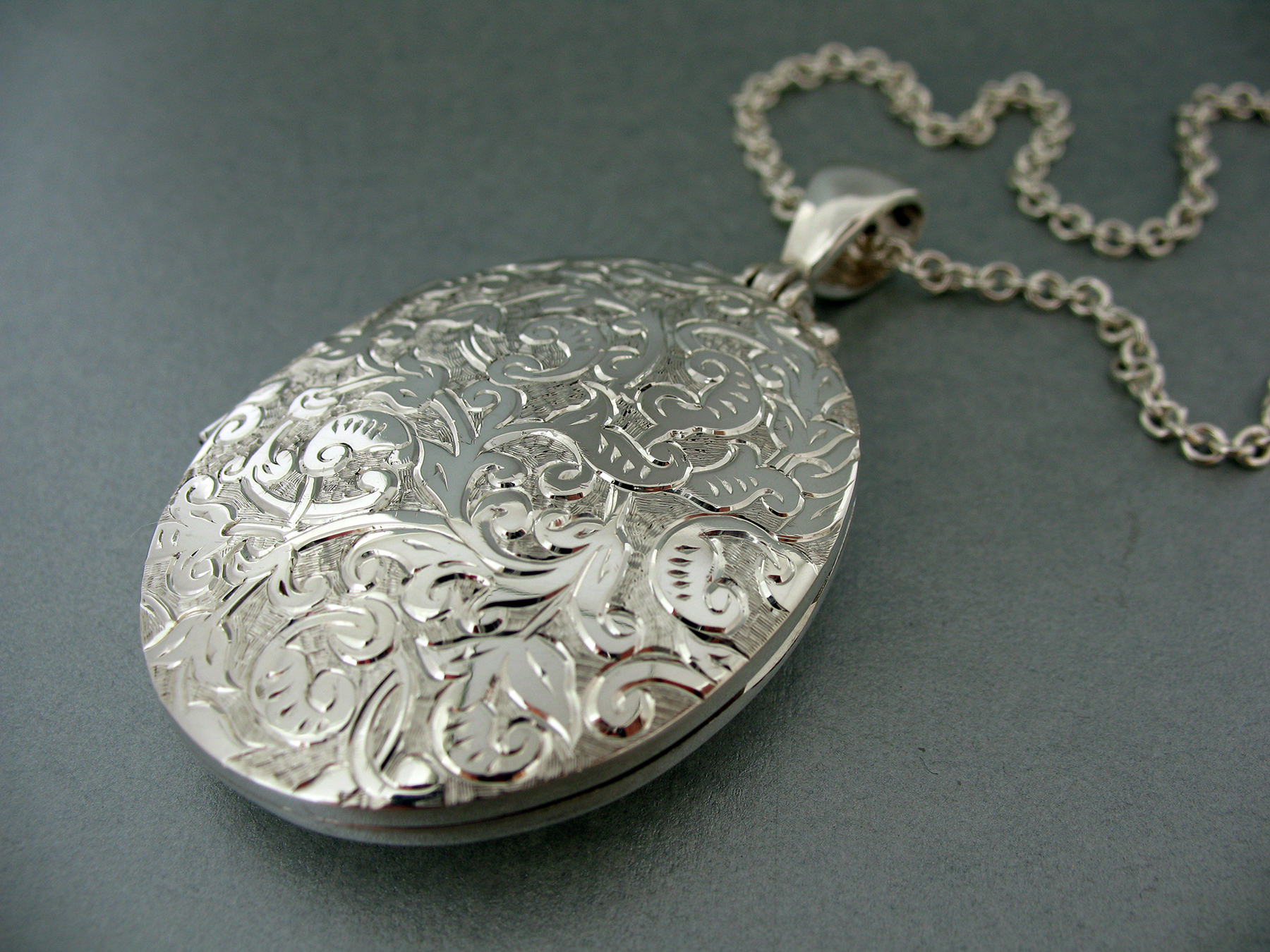 Hand Engraved Silver Locket