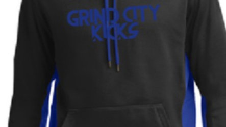 Embroidery Black/Blue Two Tone GCK Hoodie