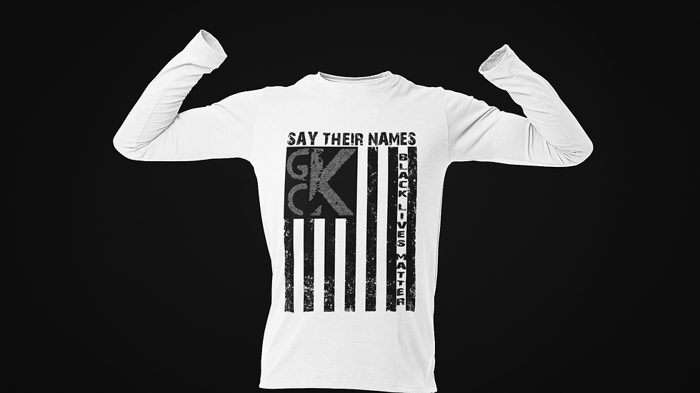 GCK Black Lives Matter Flag Shirts (Long Sleeve)