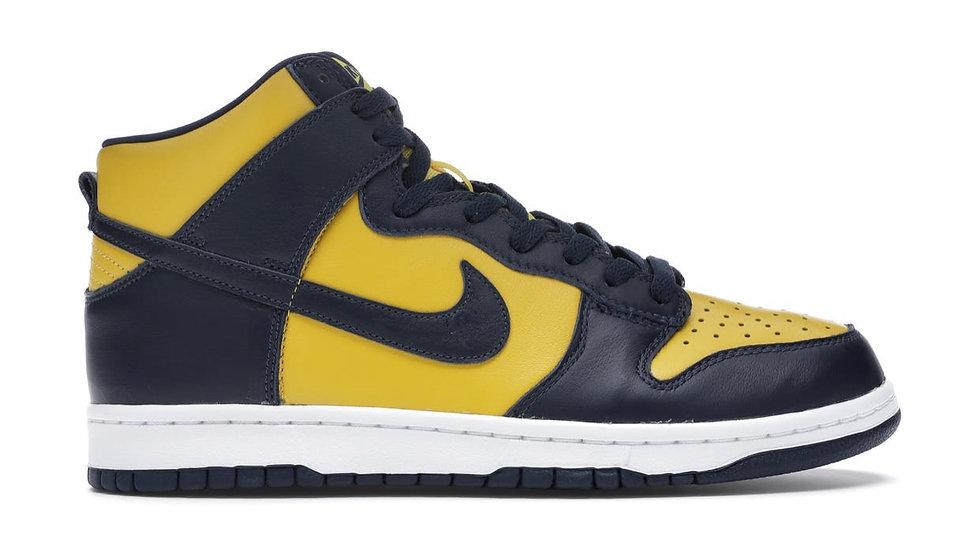"Nike Dunk High ""Michigan"""