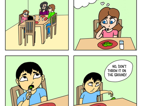 Strip 13 - Throwing Food