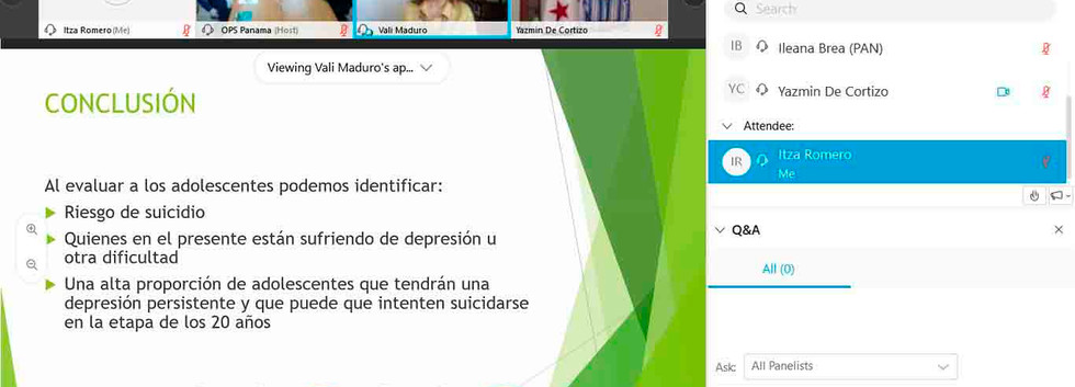 PREVENTION OF SUICIDE IN PANAMA TRAINING DAY