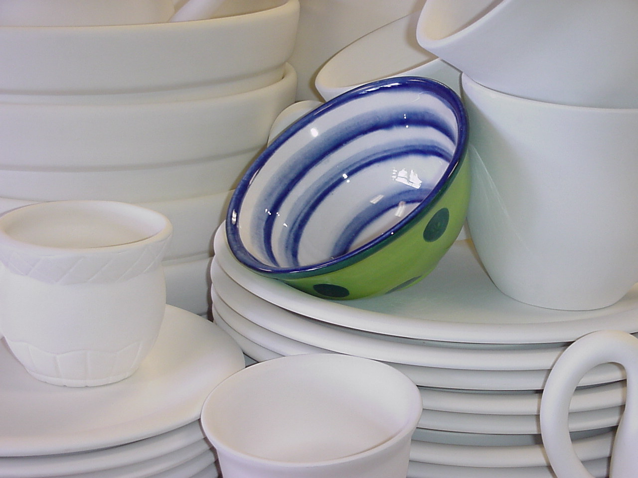 Plates and Mugs and Bowls.