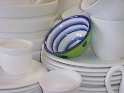 Plates and Mugs and Bowls.