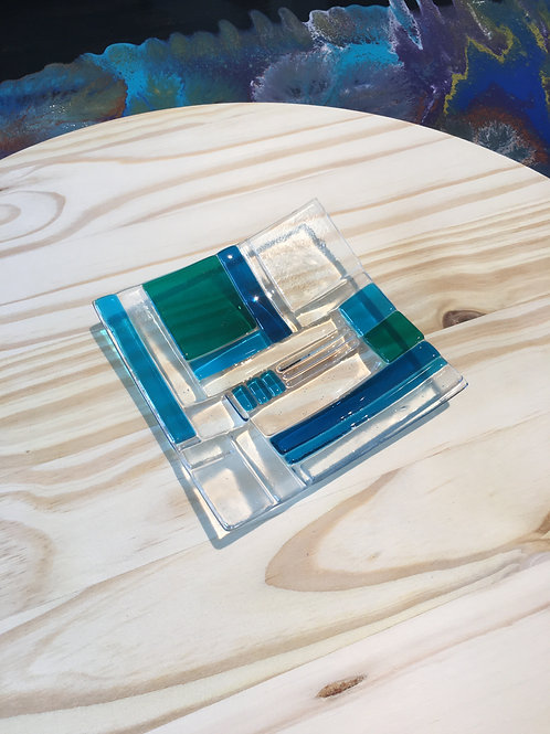 6 Inch Square Glass Base