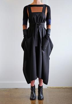 apron stripe front tied