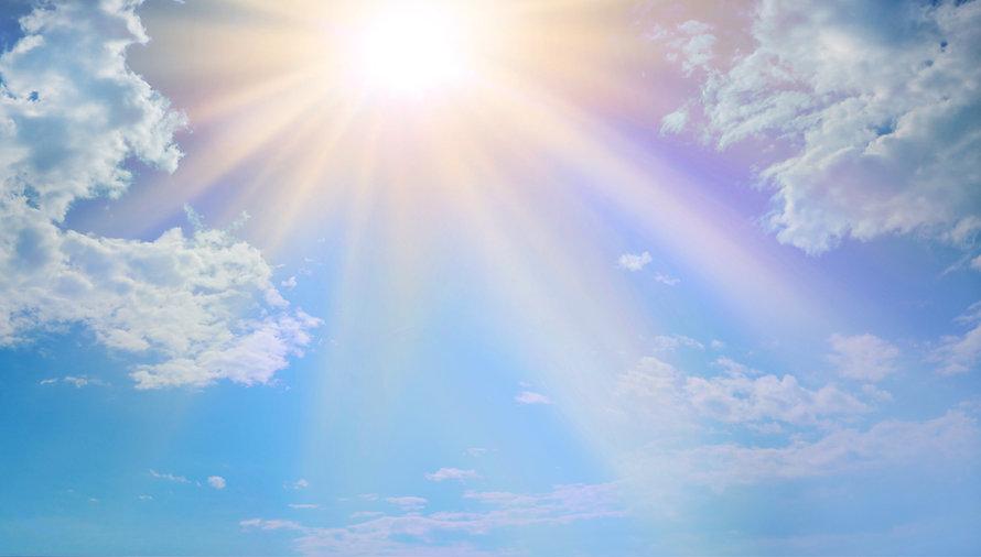 Miraculous Heavenly Light -  Blue sky, f
