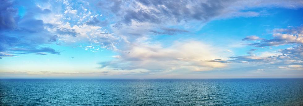 beautiful seascape panorama. Composition