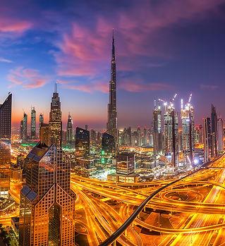 Dubai skyline at sunset.jpg