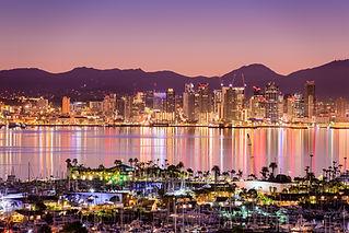 San Diego, California, USA cityscape ove