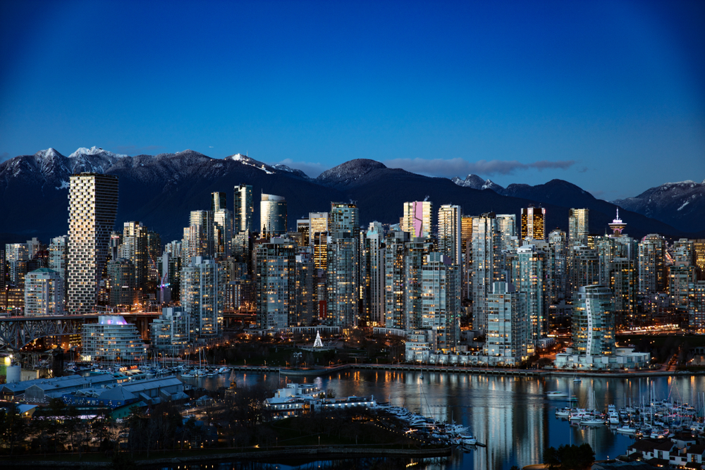Vancouver Cityscape that shows the famou