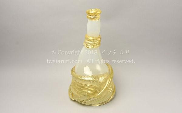 イワタルリ作品:花瓶 Bottle glass(blowing) 1988年