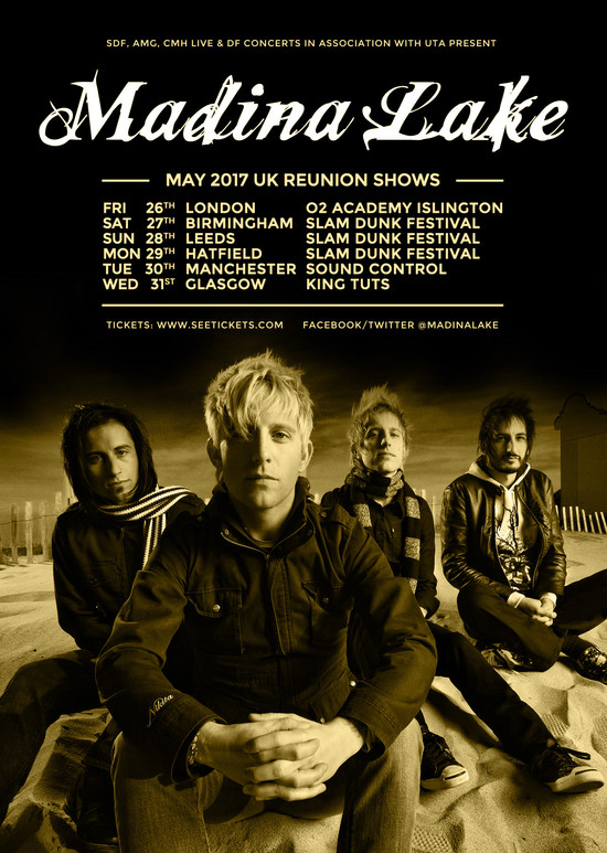From Them, Through Us, To You. Madina Lake are back.