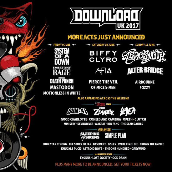 Download announce second batch of bands.