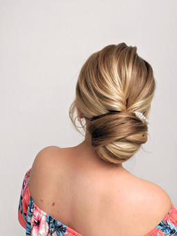 Gorgeous bridal bun for the elegant or classic bride. Wedding hairstyle for a perfect bridal updo :Hayley Laws bridal hair and makeup artist in Hayes, Bromley and Kent.
