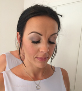 Soft and gentle make up look for a bridesmaid by Hayley Laws