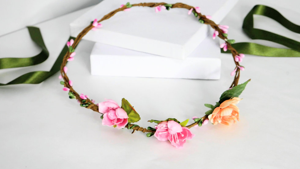 copy of Flower crown pink small